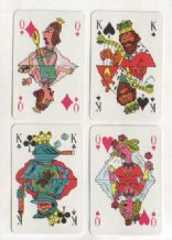 Collectible advertising playing cards .Berliner Verlag, Berlin publishing house
